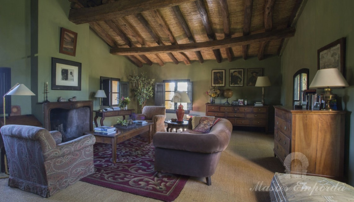 Living room of the guest house on the second floor located next to the main farmhouse.