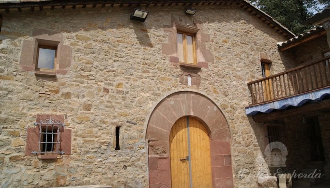 Vista de la fachada de la casa