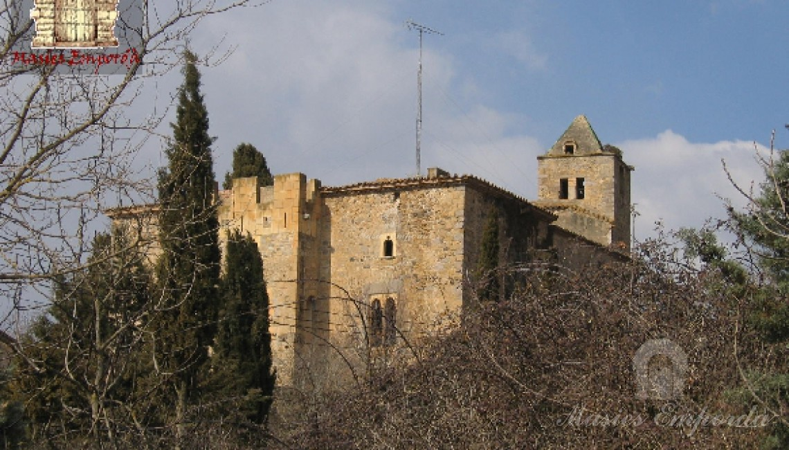 General view of the castle and the church