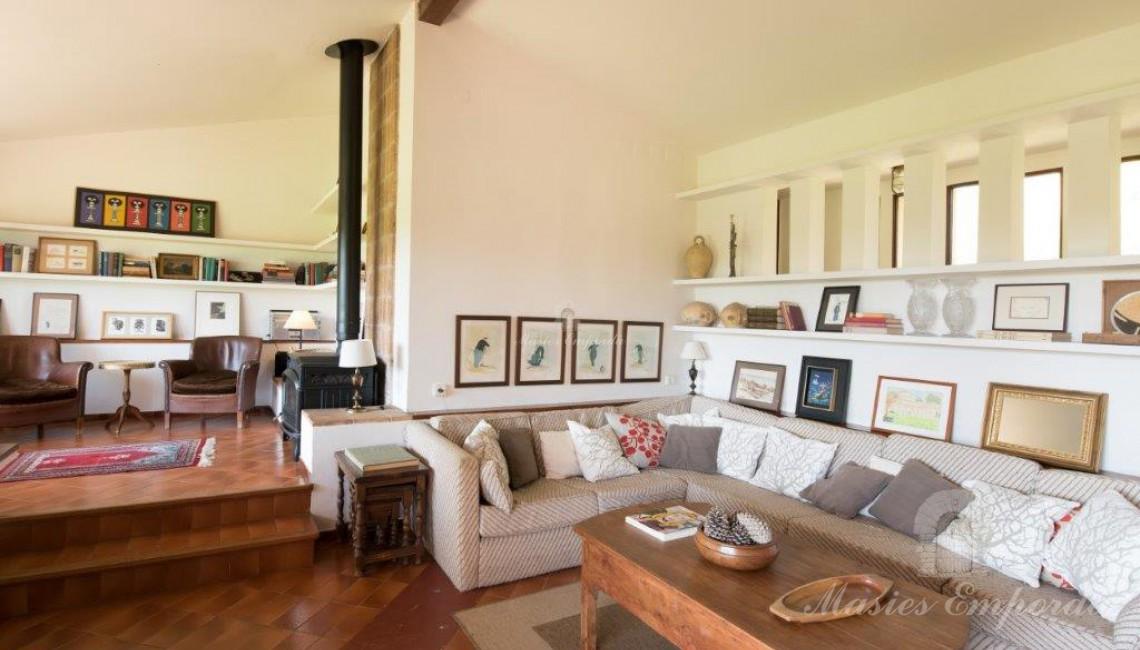 Salón de estar de la casa