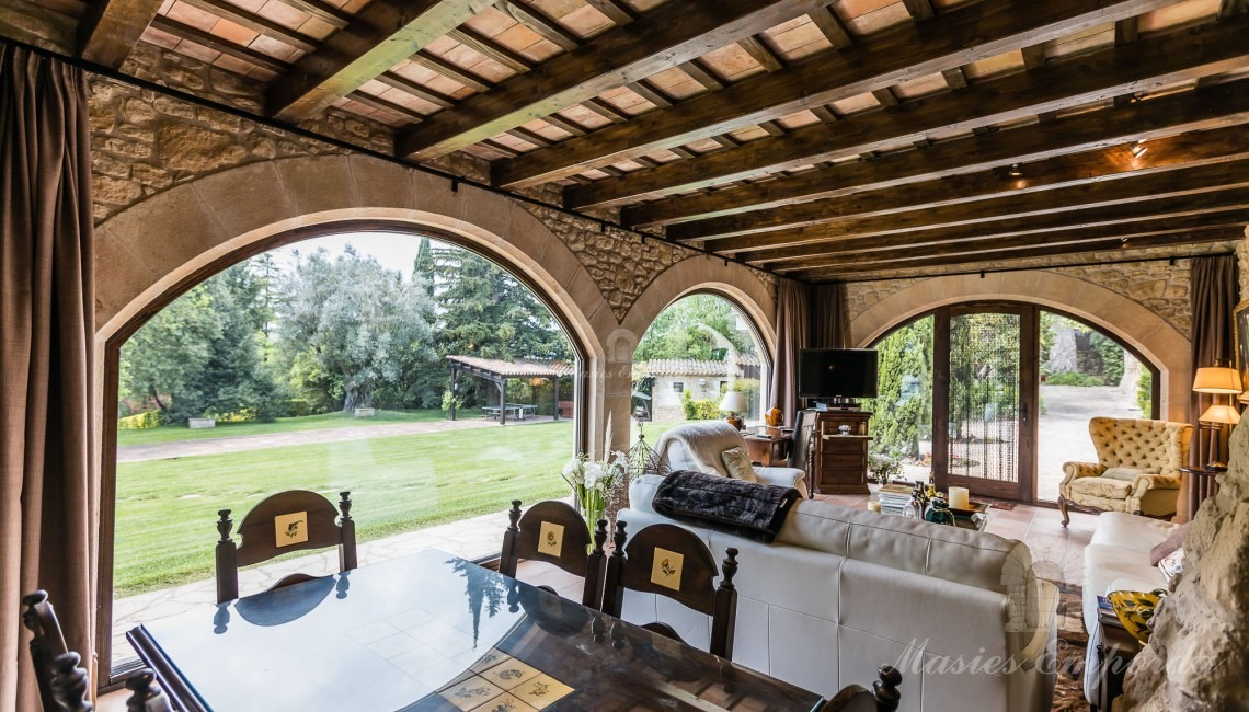 Lounge with garden views