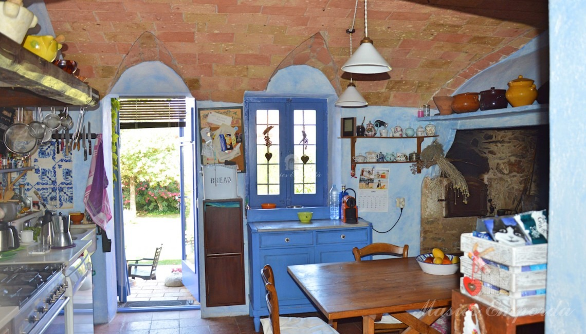 Kitchen with exit to the garden