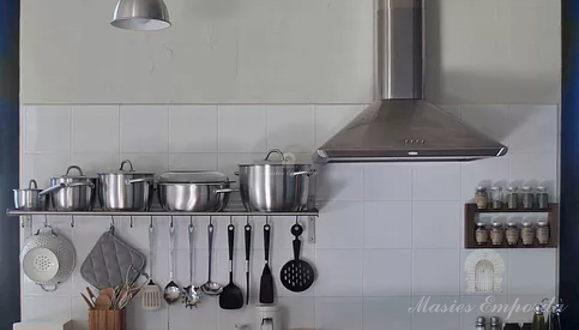 Detalles de la cocina de la casa