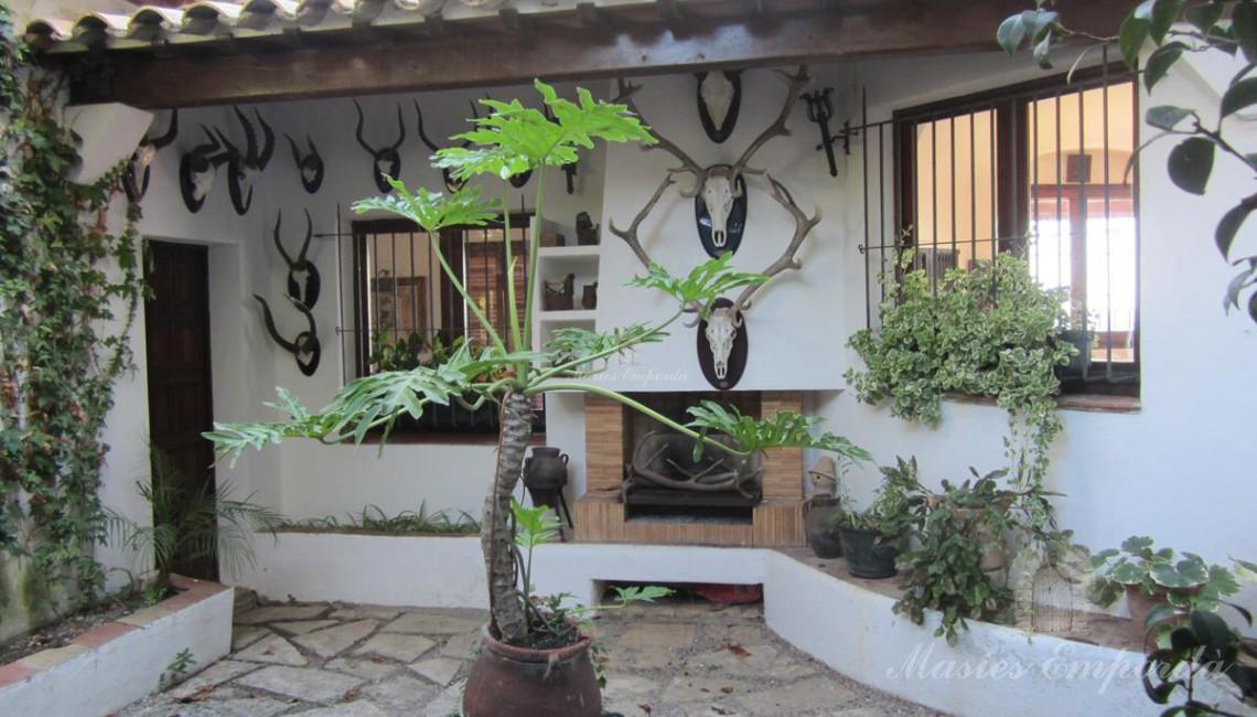Detalle del patio interior de la casa