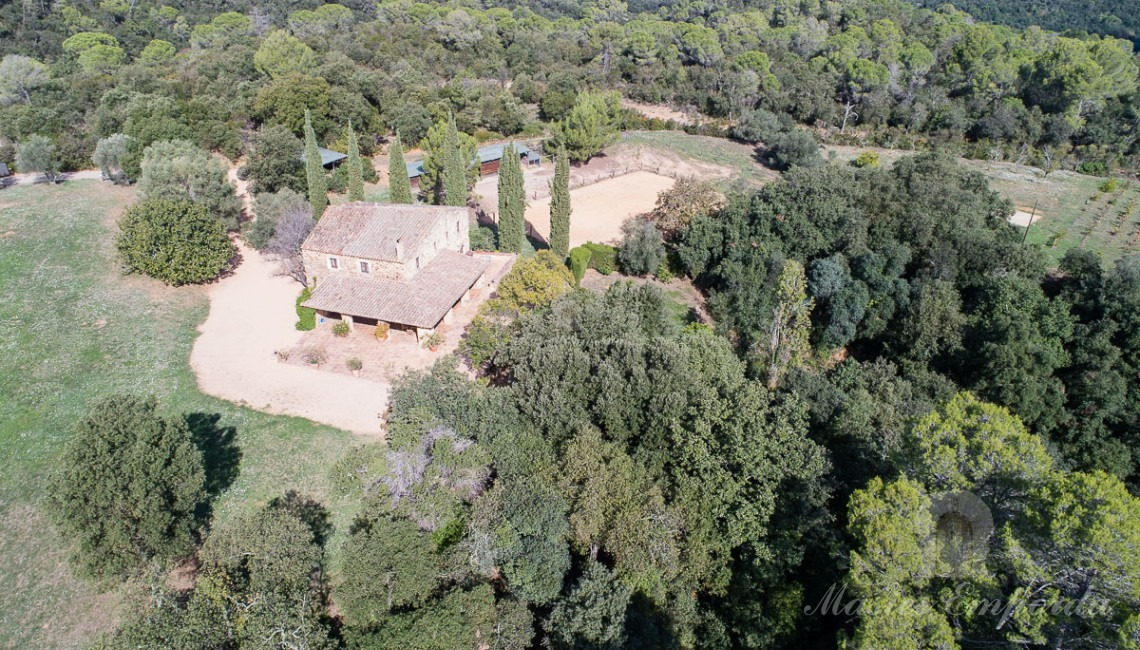 Aerial view of the property