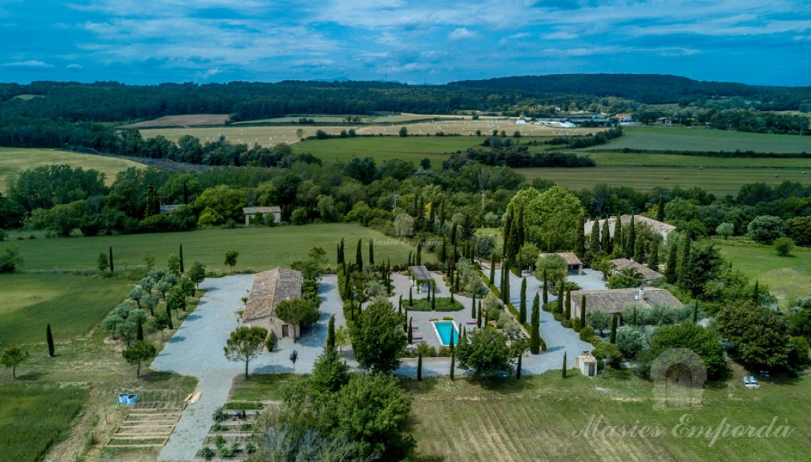 Aerial view of the property as a whole