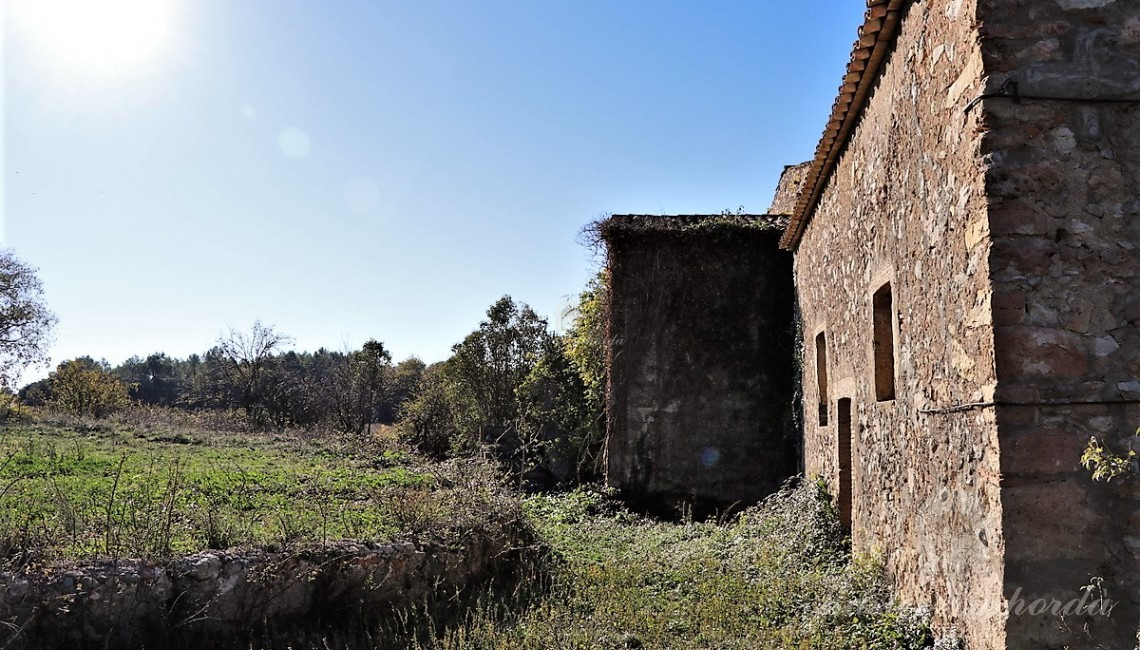 Side view of the farmhouse
