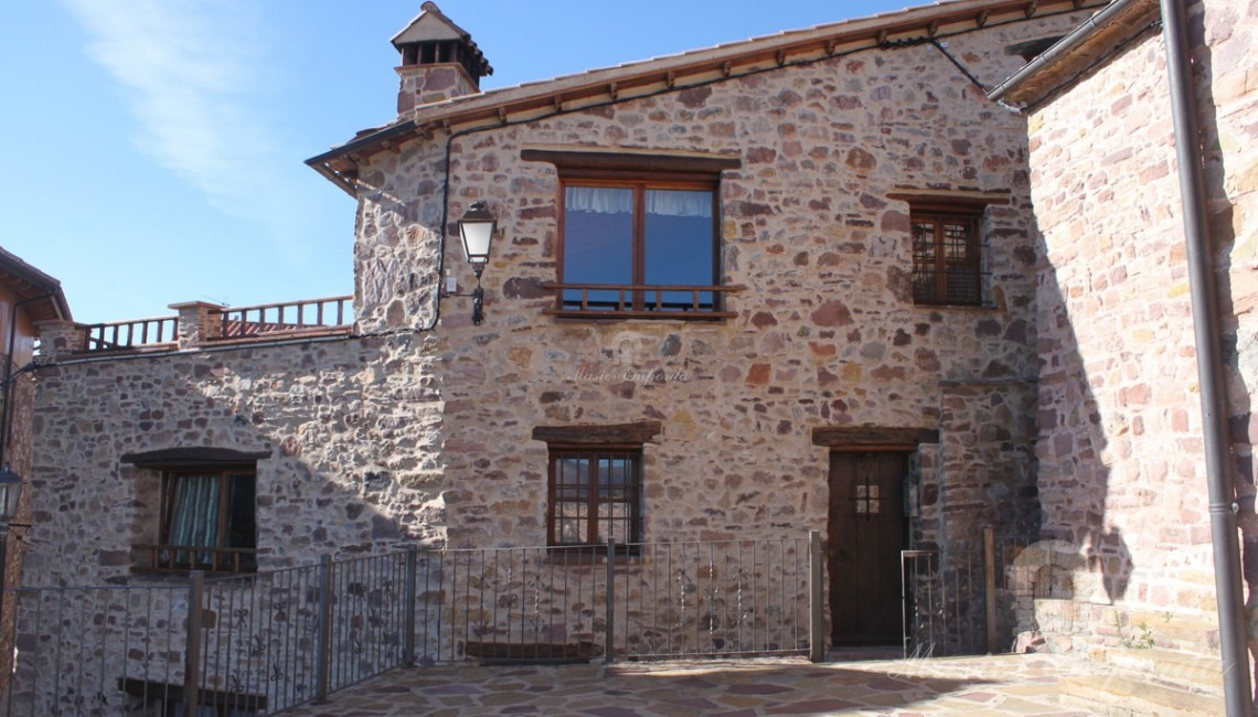 View of the facade of one of the houses