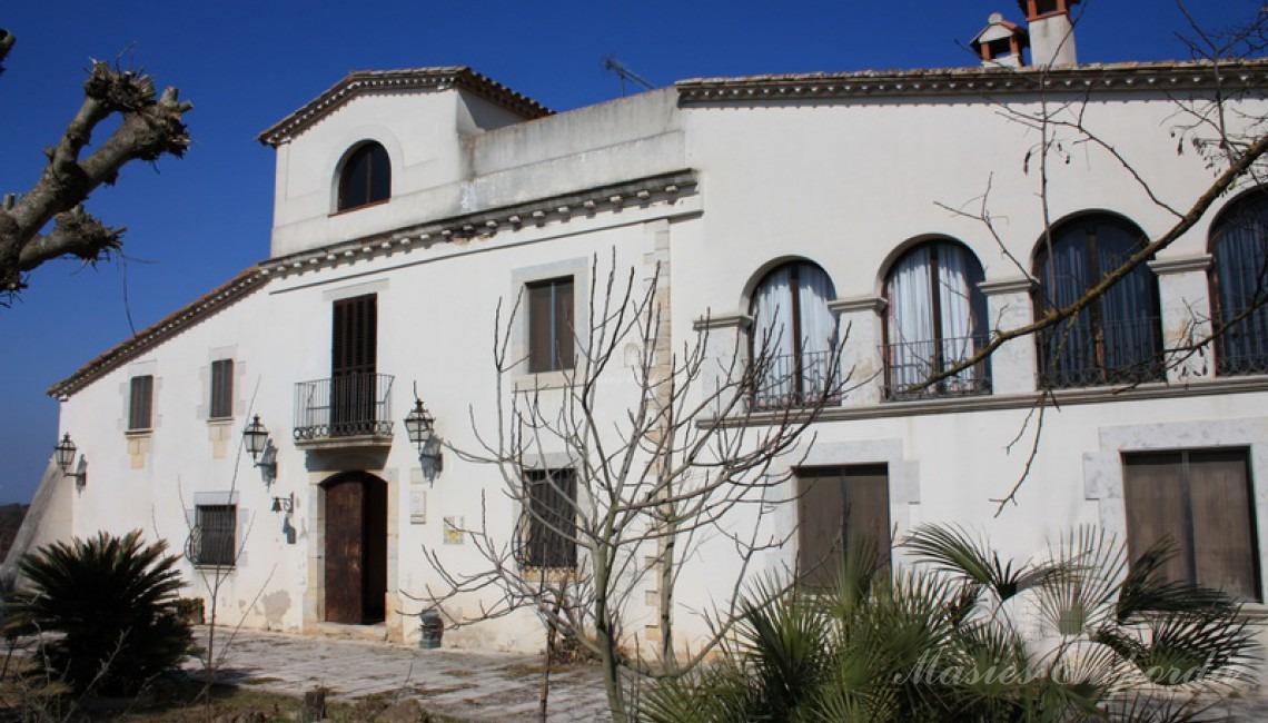 Detalle de la fachada de la casa