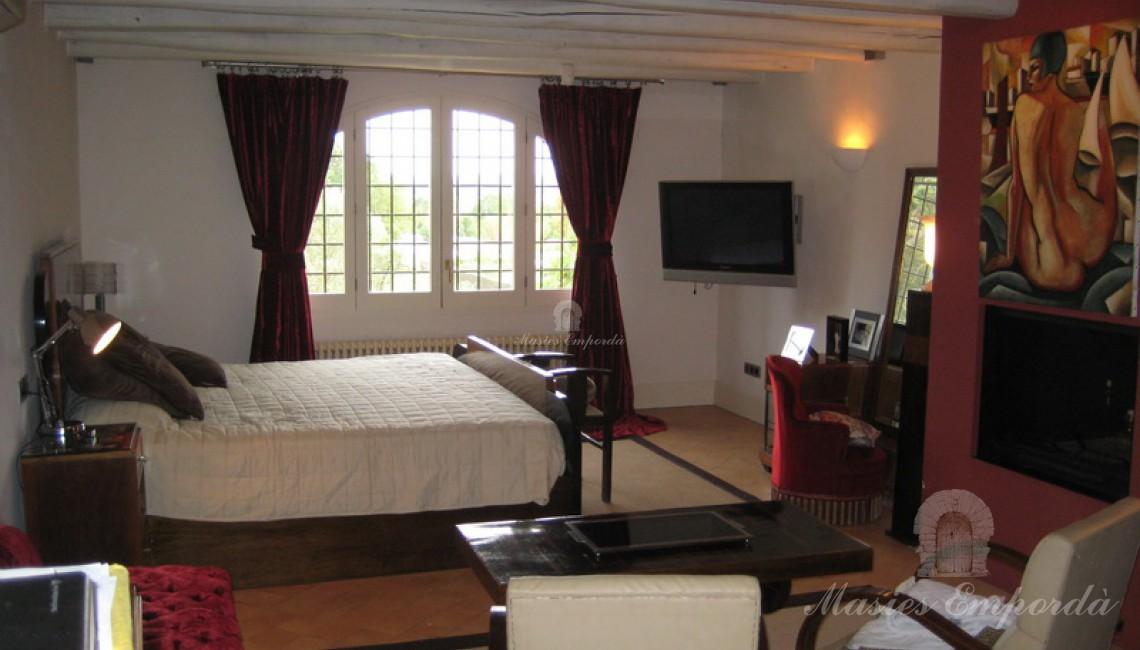 Una de las habitaciones dobles de la casa