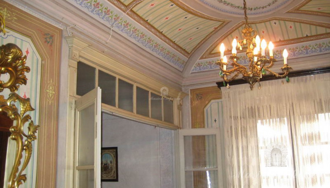 Detalles de la bóveda del salón