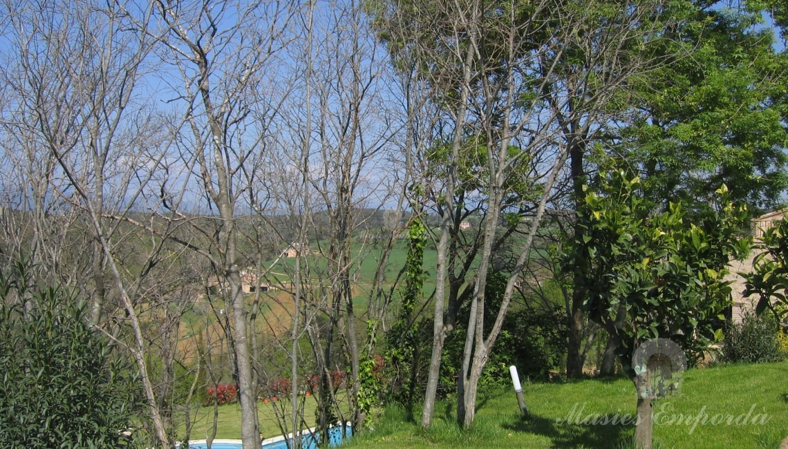 Views from the side garden of the farm and the pool