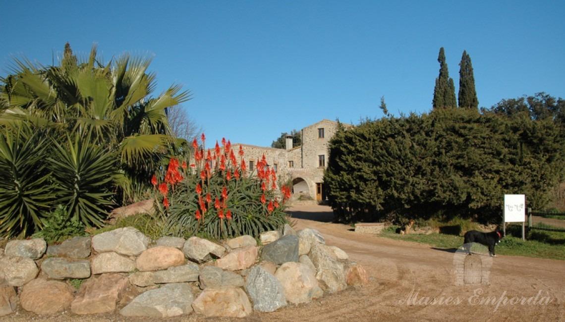 Camino interior de la propiedad de acceso a la Masía