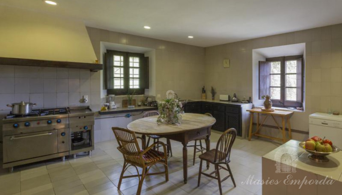 Vista de la gran y magnifica cocina de la casa