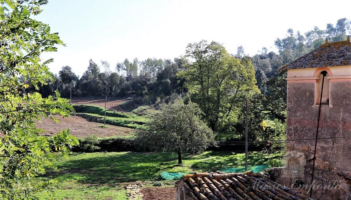 Vistas desde la terraza de los campos