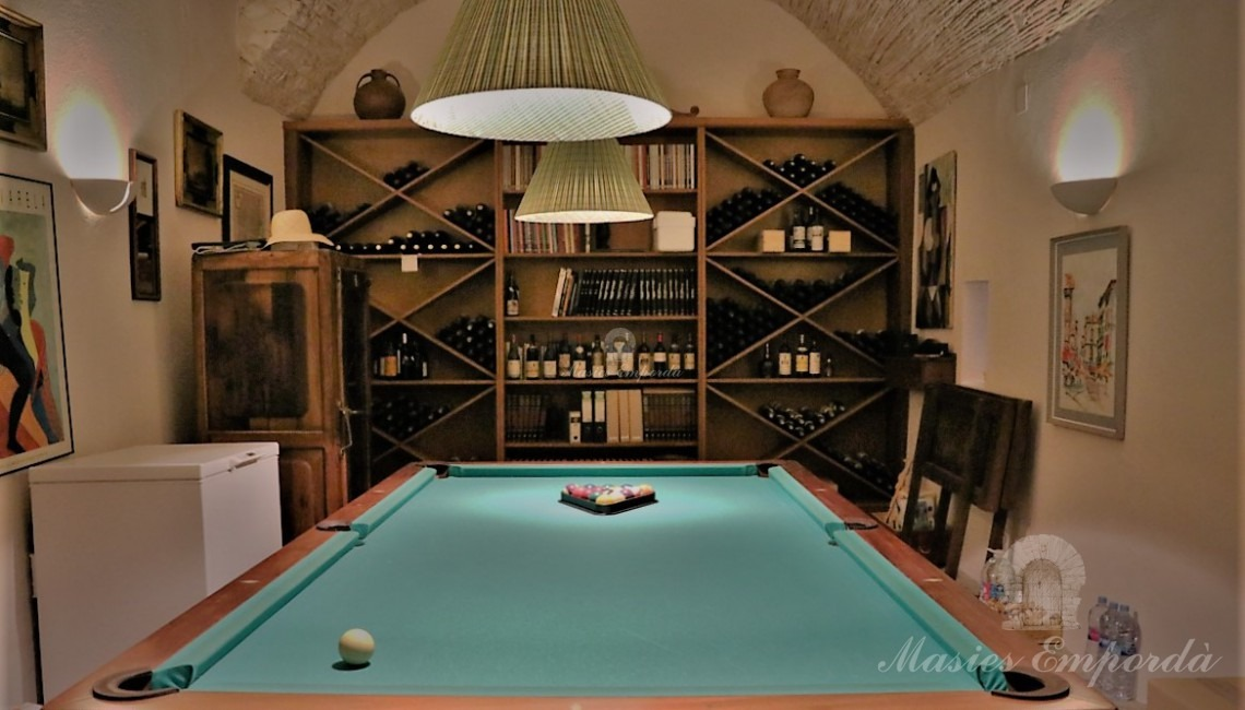 Game room and cellar of the house