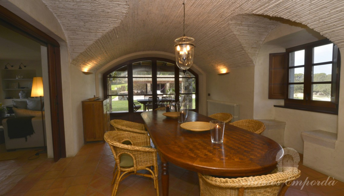 Guest dining room of the house