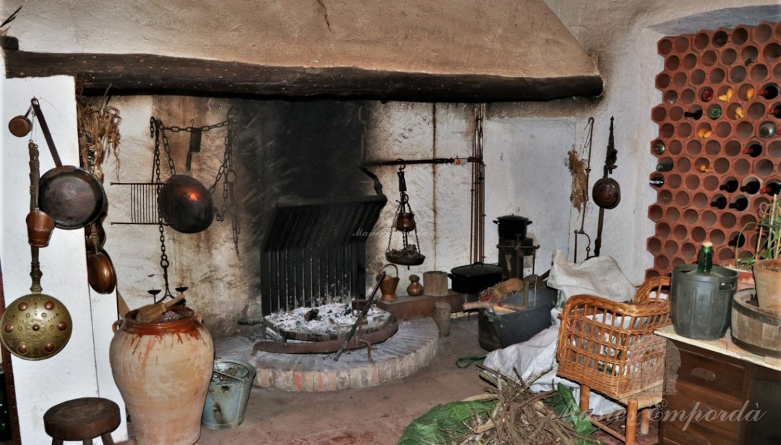 Detail of the ancient kitchen