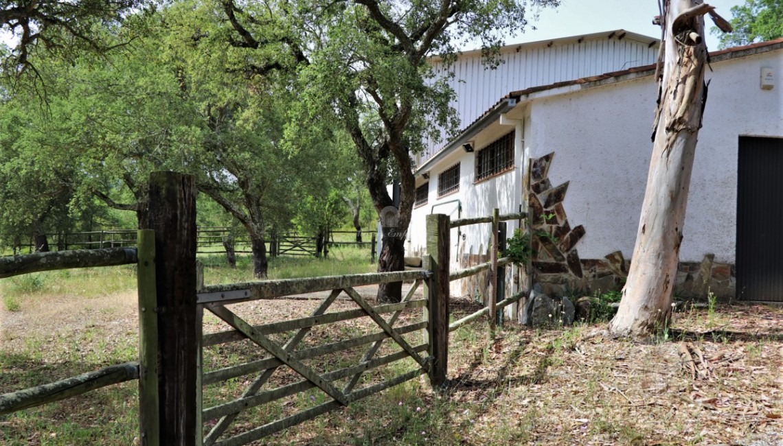The stables and fences of the farmhouse