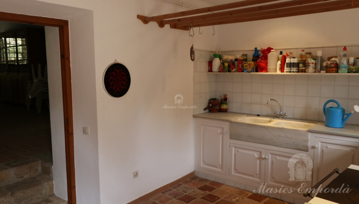 Second kitchen on the ground floor with access of the inner courtyard