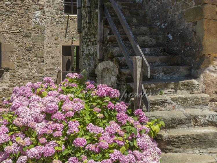 Escalera de piedra de acceso al planta superior del pajar