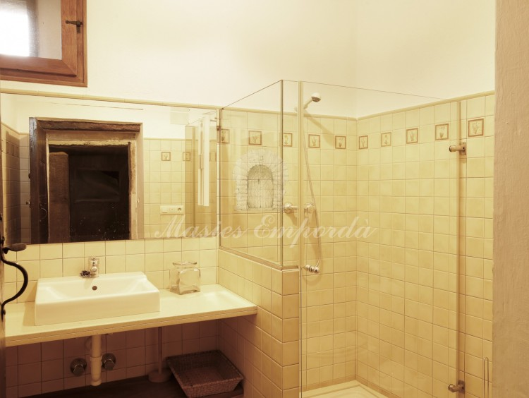 Downstairs bathroom with shower