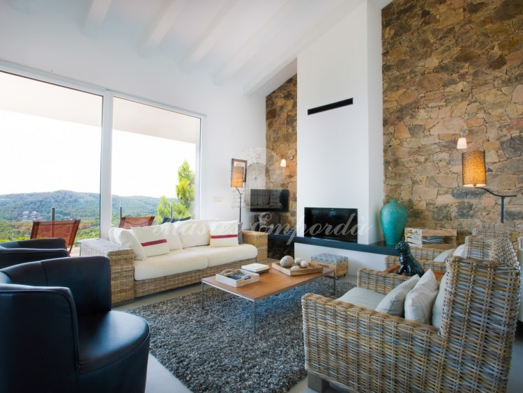 Views of the living room and terrace
