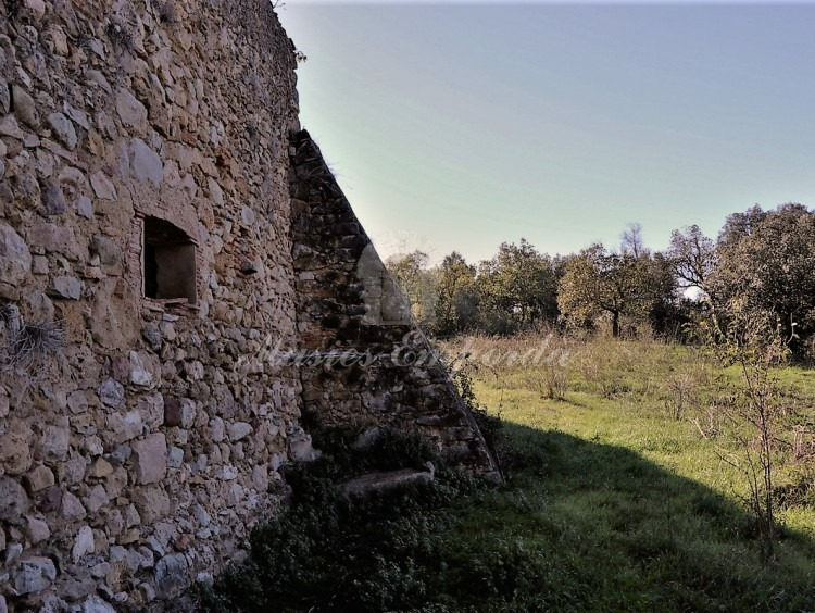 View from the interior of the patio towards the fields of the house