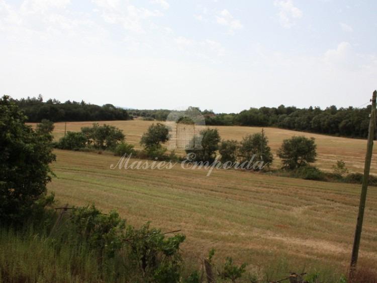 Vista de los campos desde la segunda planta de la casa