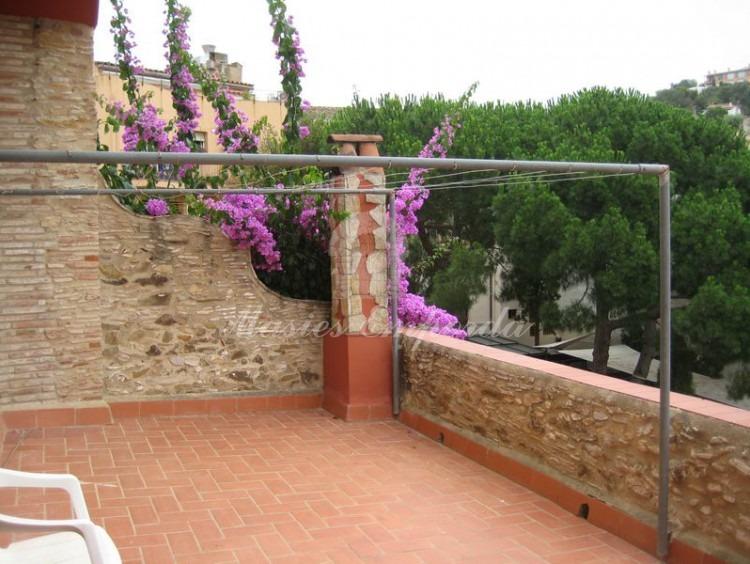 Detalle de la terraza de la casa