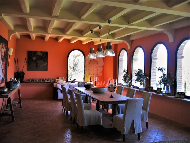 General view of the main dining room of the house