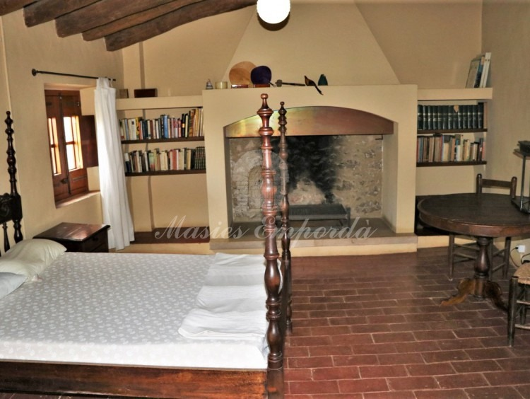One of the rooms with a fireplace