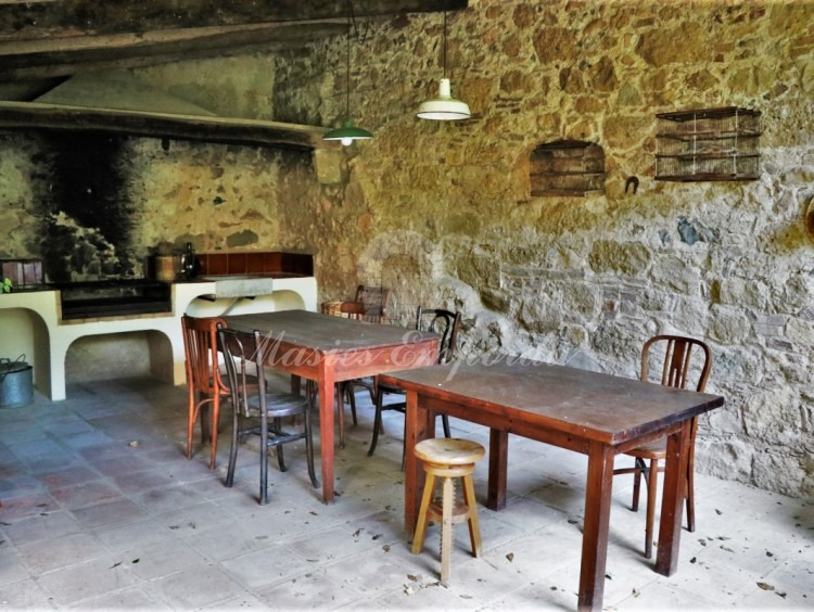Interior of the barbecue porch and the summer dining room