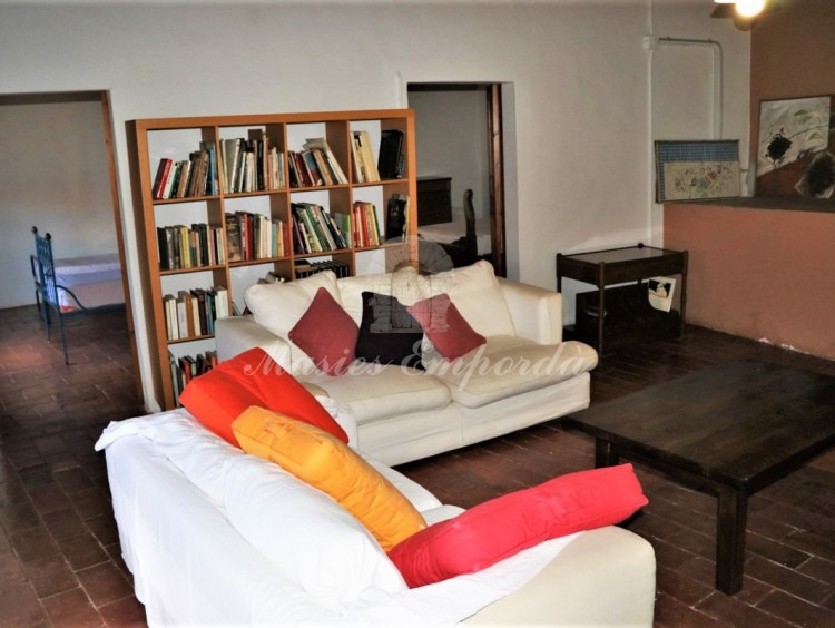Living room on the second floor