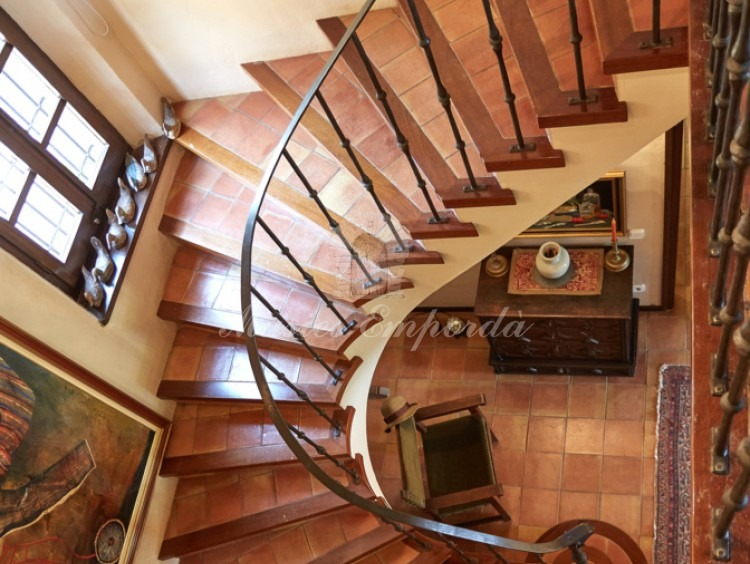 Access stairway to the first floor of the main house
