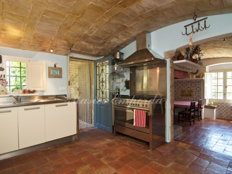Main kitchen of the farmhouse