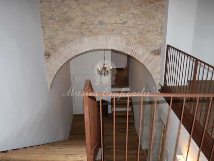Access stairway to the attic seen from the opposite angle