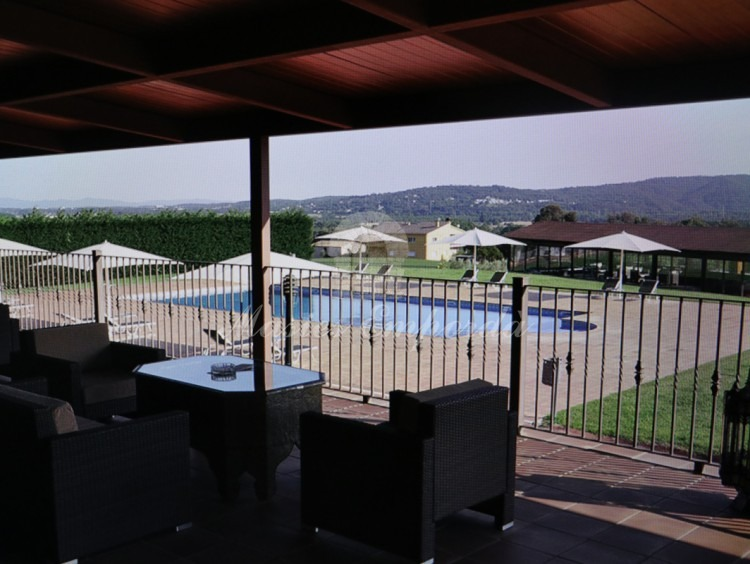 Views from the terrace of the farmhouse in the pool area