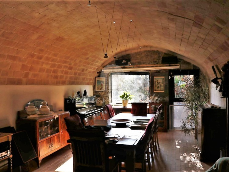 Dining room with vault with exit to the garden